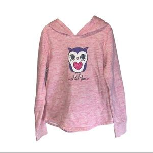 Jumping Beans Pink Owl Hoodie - Girls 7